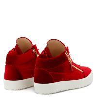 KRISS VELVET - Red - Mid top sneakers