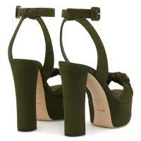 BETTY KNOT - Green - Sandals