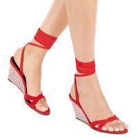 MANOLA STRASS - Red - Sandals
