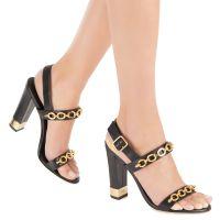 SANDRINE METAL - Black - Sandals