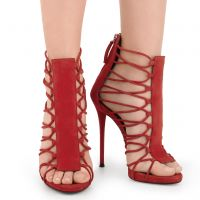SUEDE ZOEY - Red - Sandals