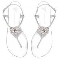 HOLLIE HEART - Silver - Flats