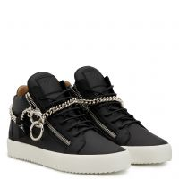 CHAIN - Black - Mid top sneakers
