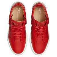 THE SHARK 5.0 MID - Red - Mid top sneakers