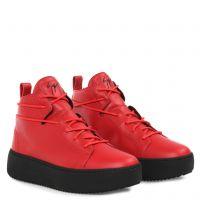 NICKI - Red - Mid top sneakers