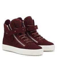 DENNY VELVET - Red - High top sneakers