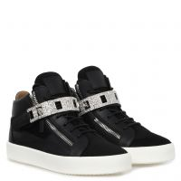 DENNY SQUARE - Black - Mid top sneakers