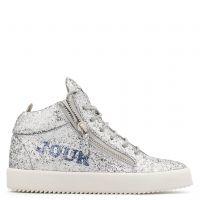 BONJOUR NUIT - Silver - Mid top sneakers