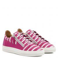 FRANKIE GLOSS JR. - Fuxia - Low top sneakers