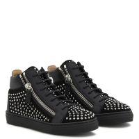 KRISS CRYSTAL JR. - Black - Mid top sneakers