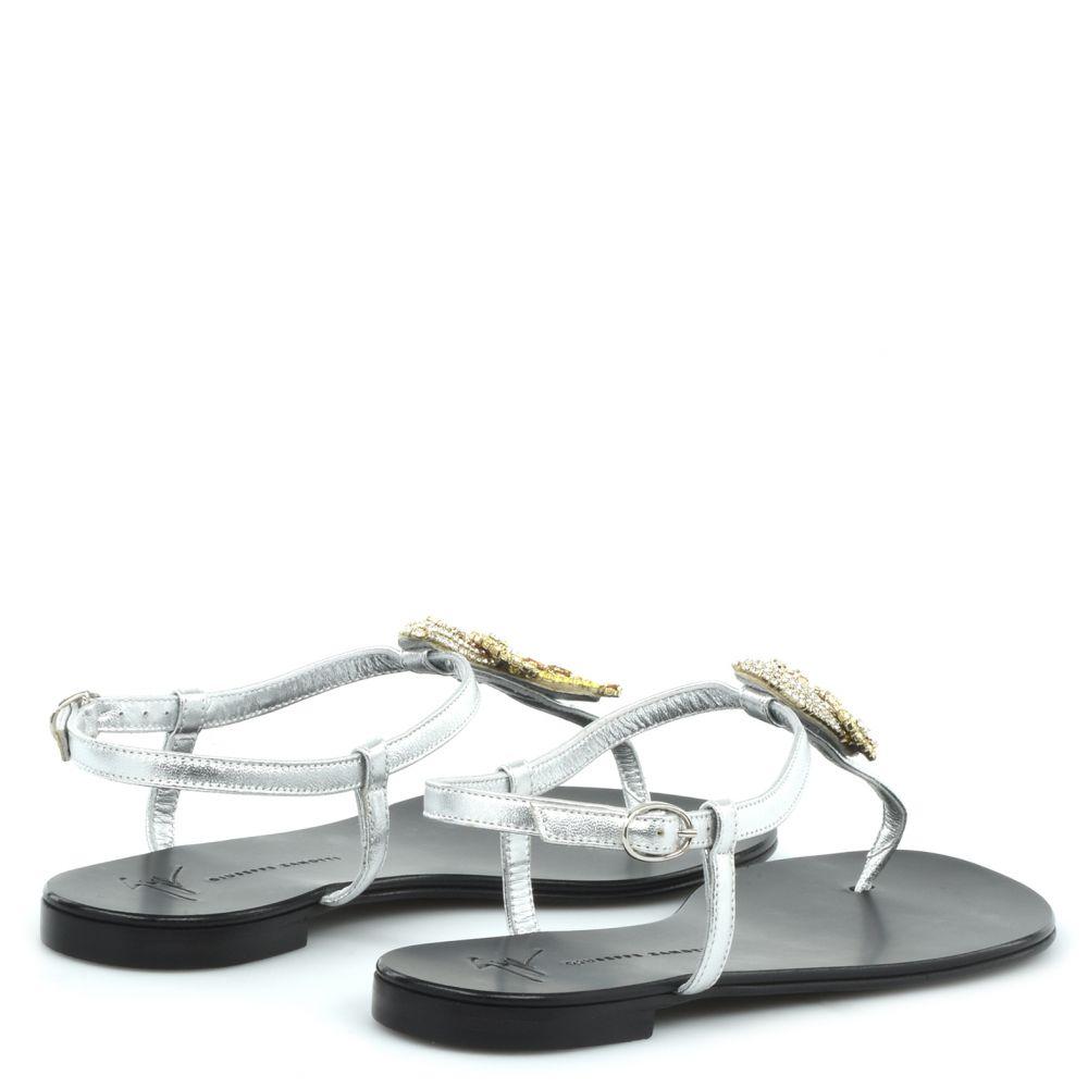 TROPICAL HALI - Silver - Flats