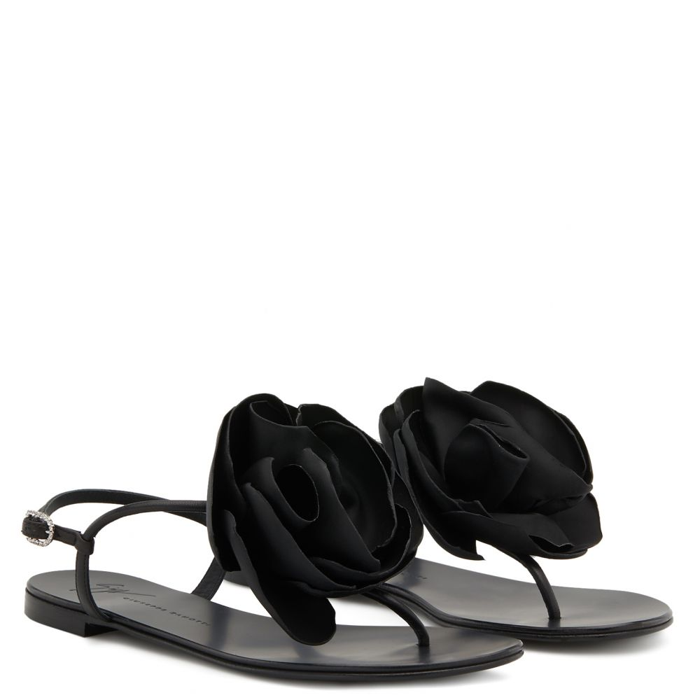 PEONY - Black - Flats