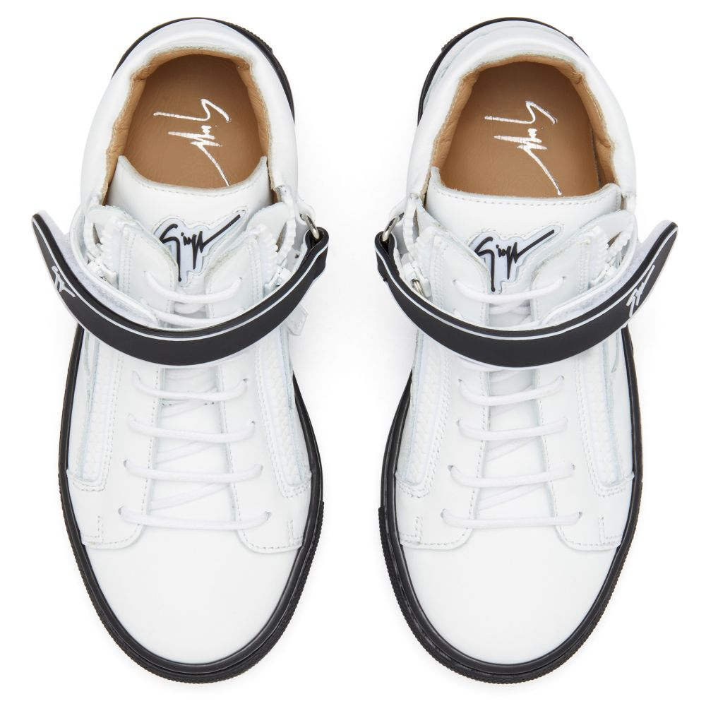 KRISS 1/2 JR. - White - Mid top sneakers