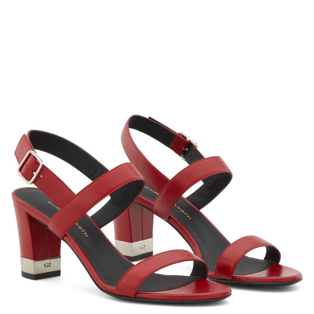 SANDRINE - Red - Sandals