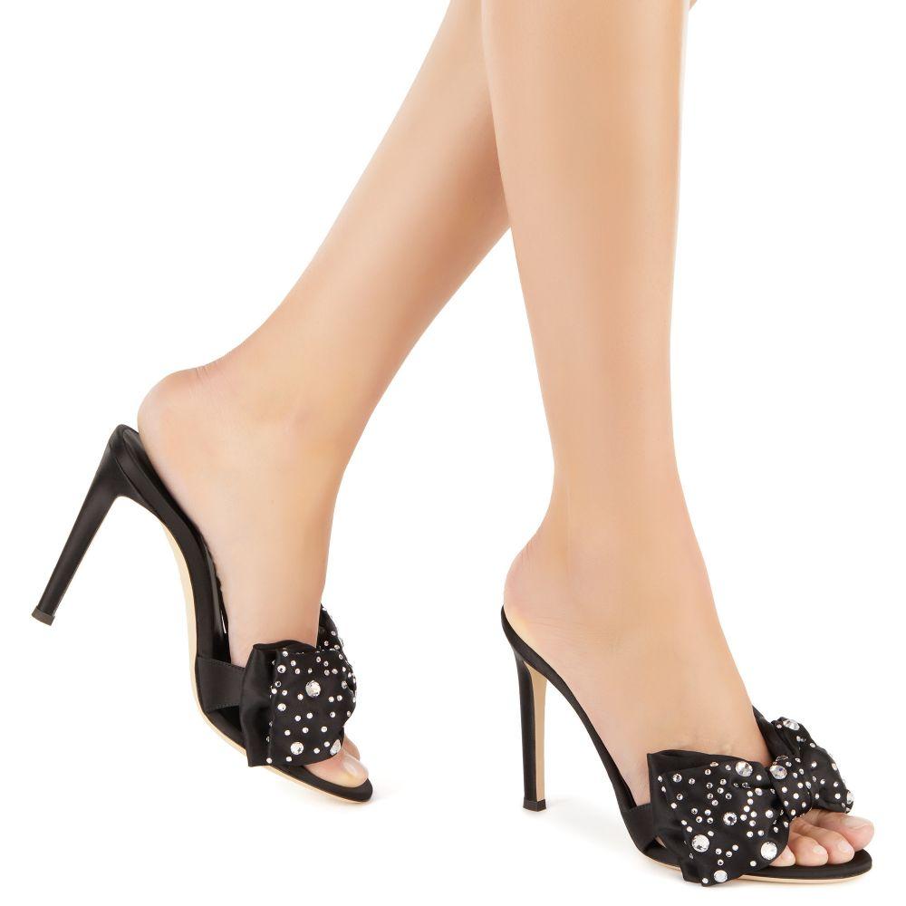 HANNA CRYSTAL - Black - Sandals