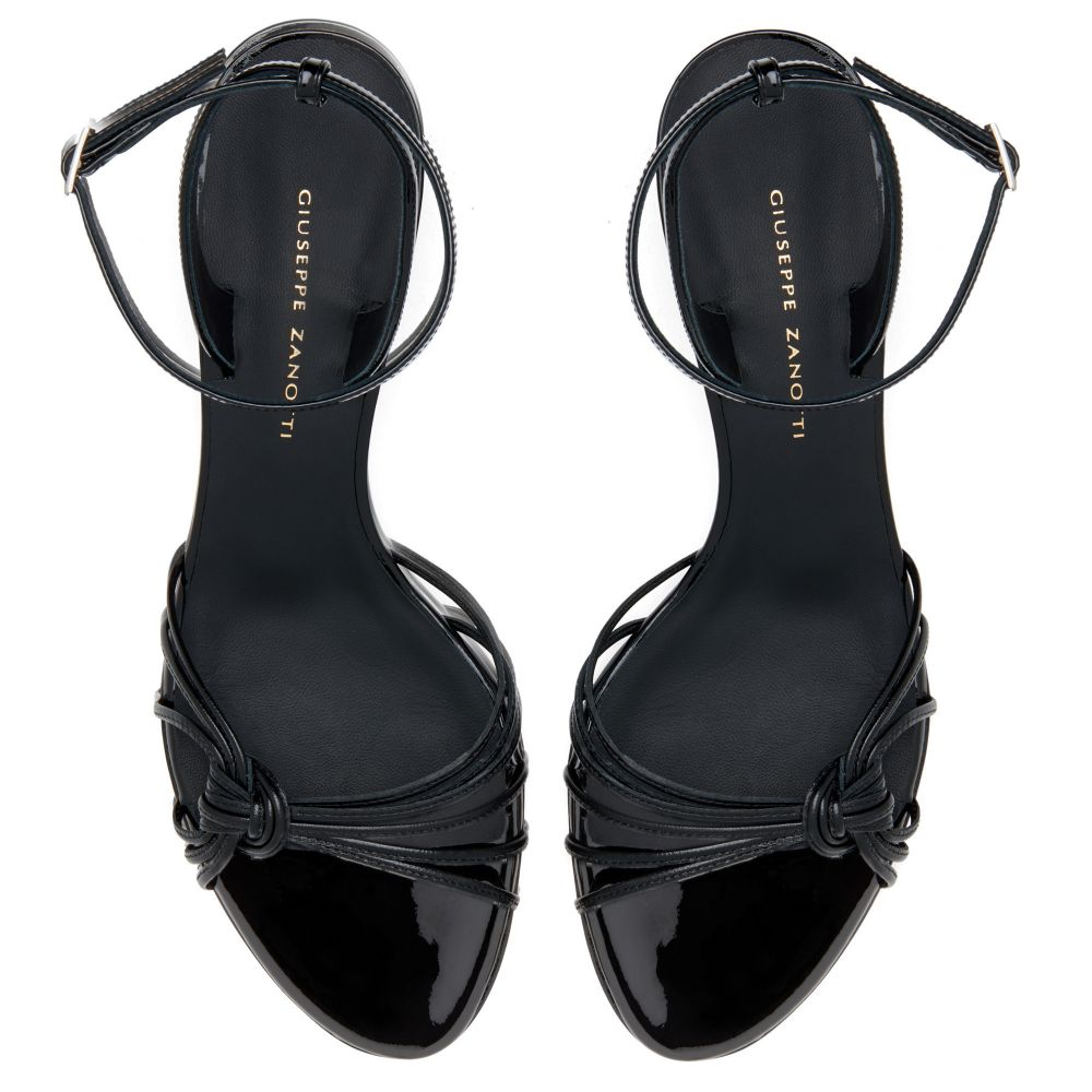 YLENIA MINI WEDGE - Noir - Sandales
