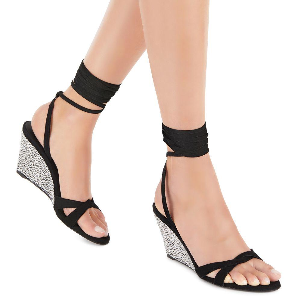 MANOLA STRASS - Black - Sandals