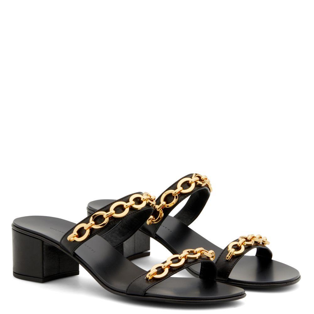 SANDRINE METAL 40 - Black - Sandals