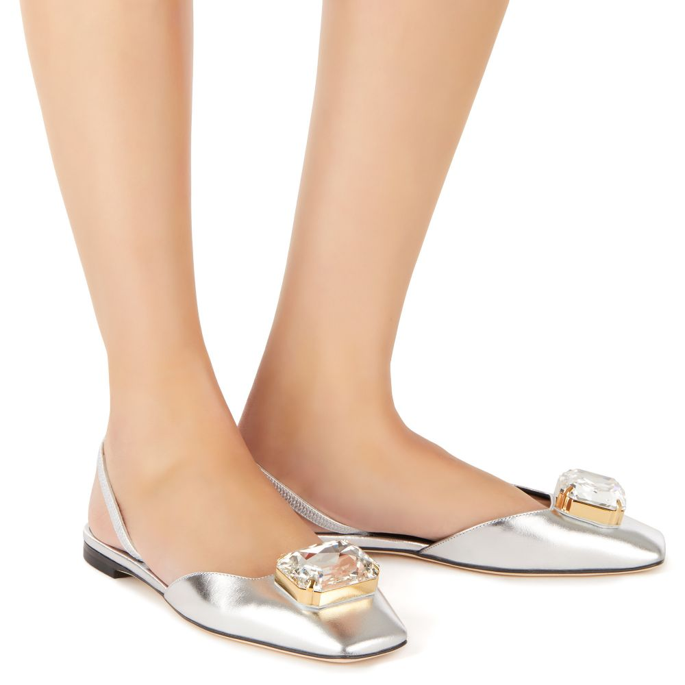 VANIA BIG DIAMOND - Silver - Flats