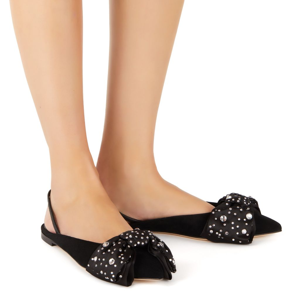JOHANNA CRYSTAL - Black - Flats