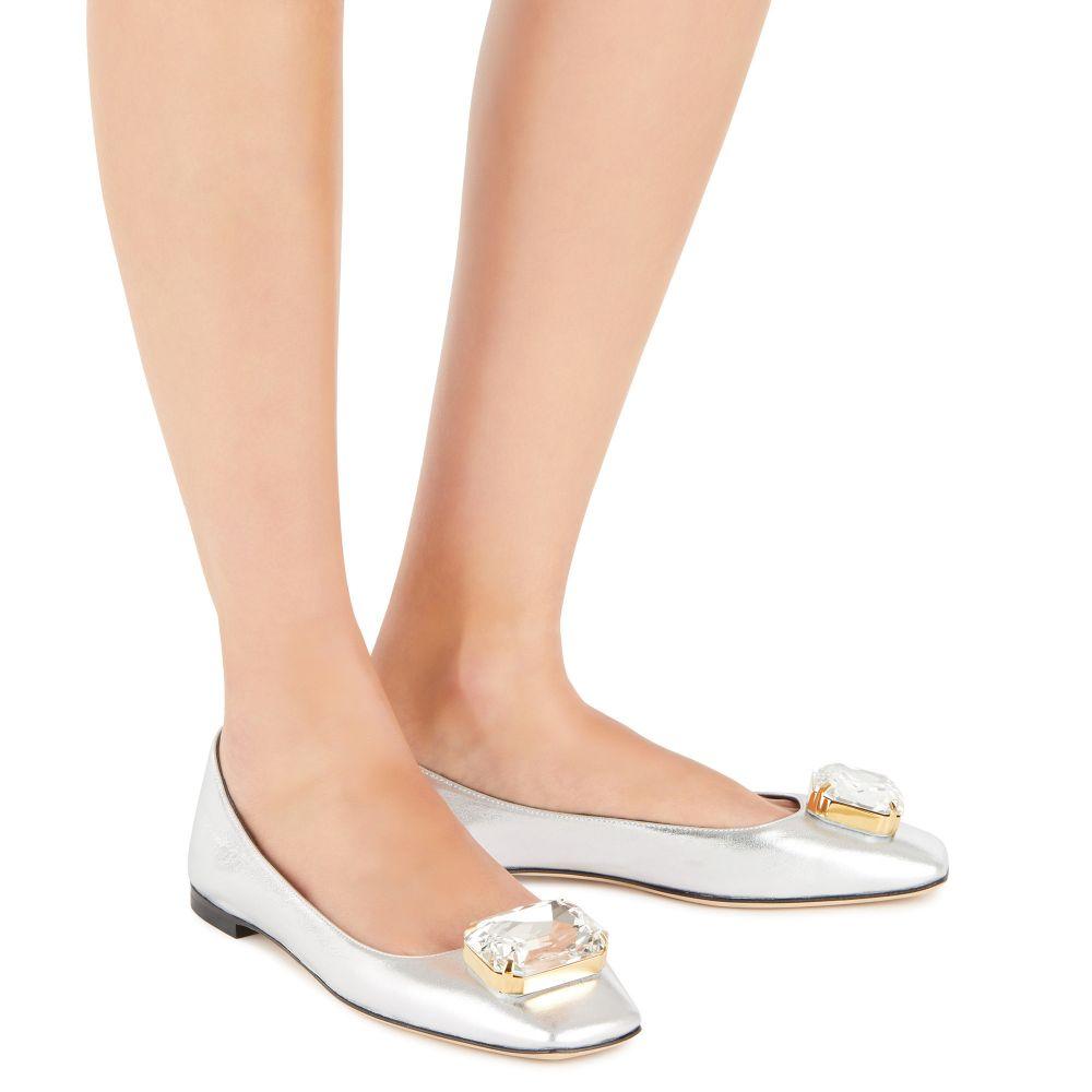 BIG DIAMOND BALLET - Silver - Flats