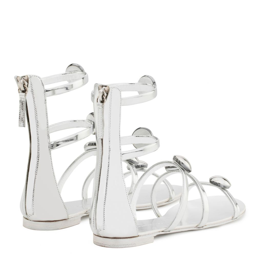 MICOL LOW - Silver - Flats