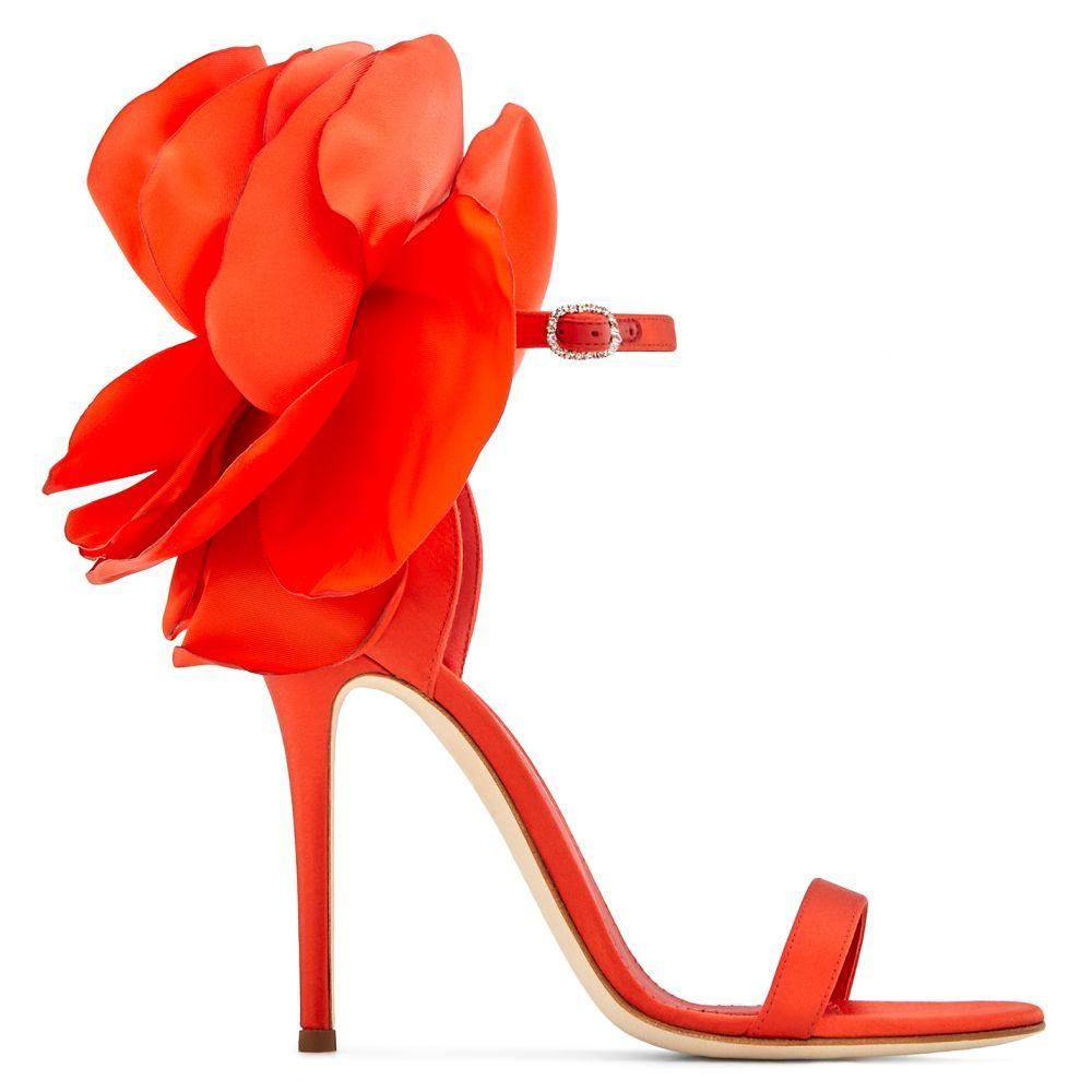 PEONY - Sandals - Red | Giuseppe Zanotti