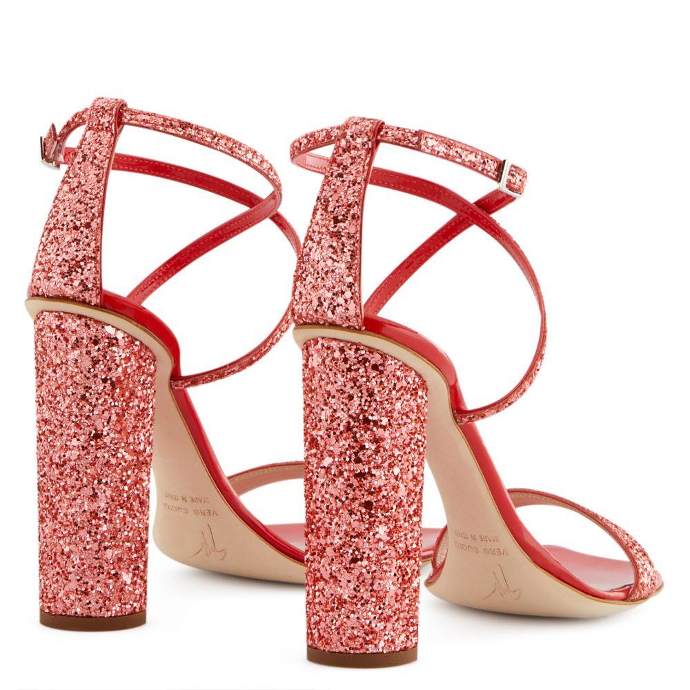 TARA GLITTER - Red - Sandals