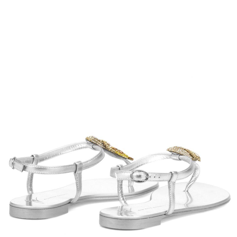 HALI TROPICAL - Silver - Flats