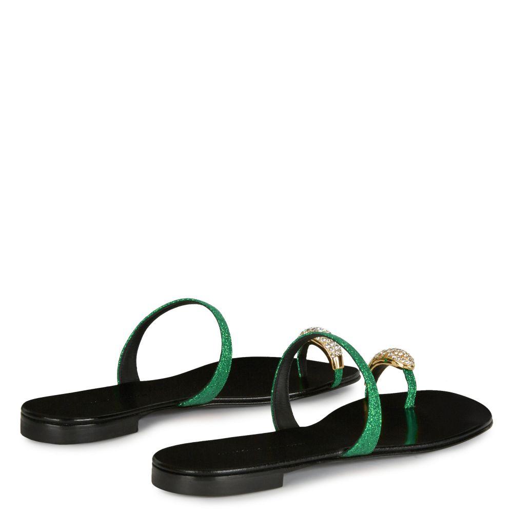 RING - Green - Flats