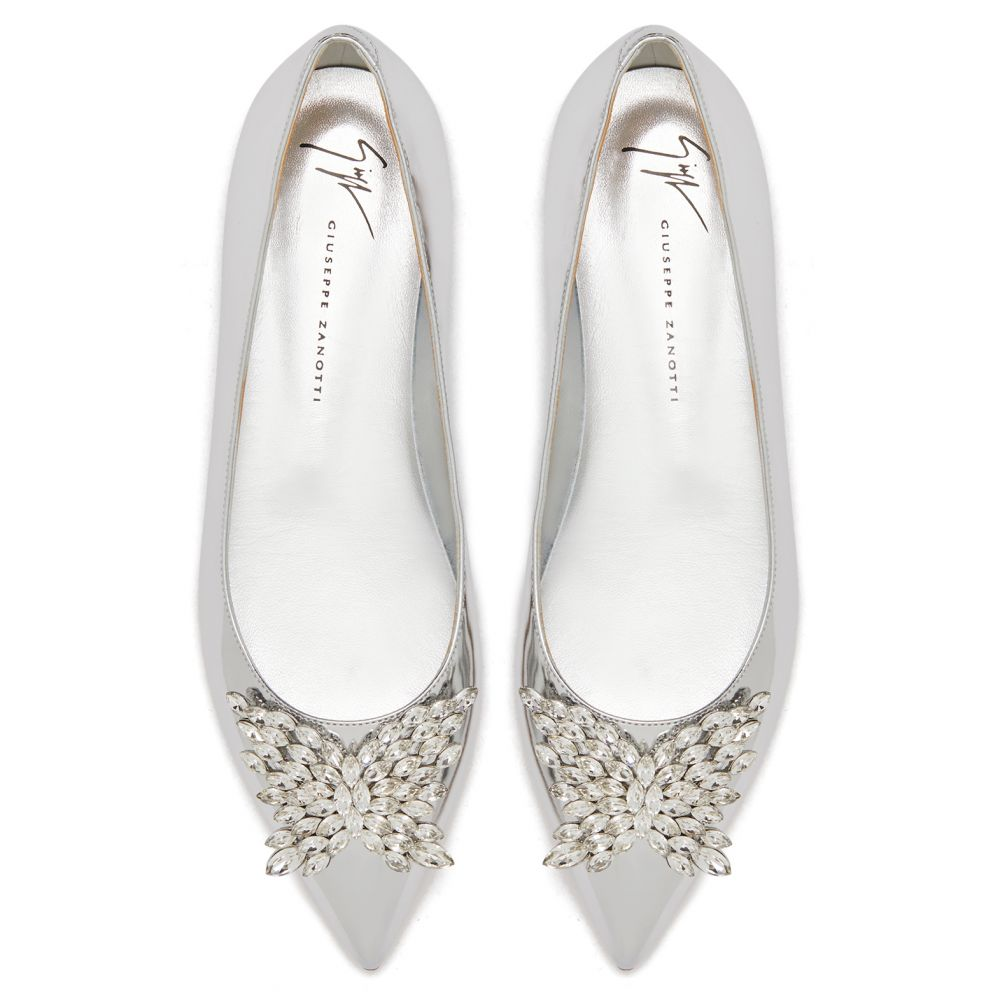 CRYSTAL BUTTERFLY - Silver - Flats