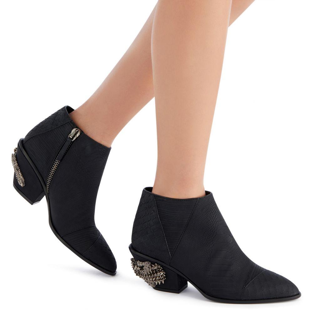 KEVAN ALLIGATOR - Black - Boots