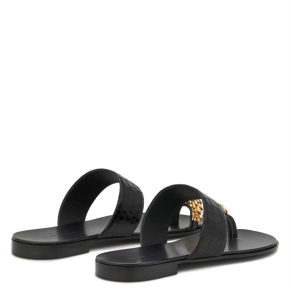 NORBERT LION - Black - Sandals