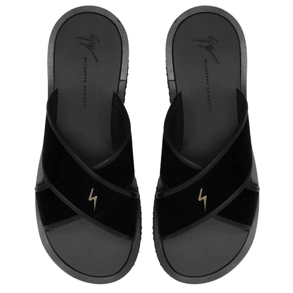G-FLASH - Black - Sandals