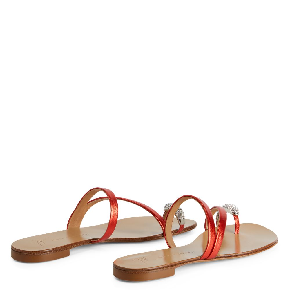 HILLARY RING - Red - Flats