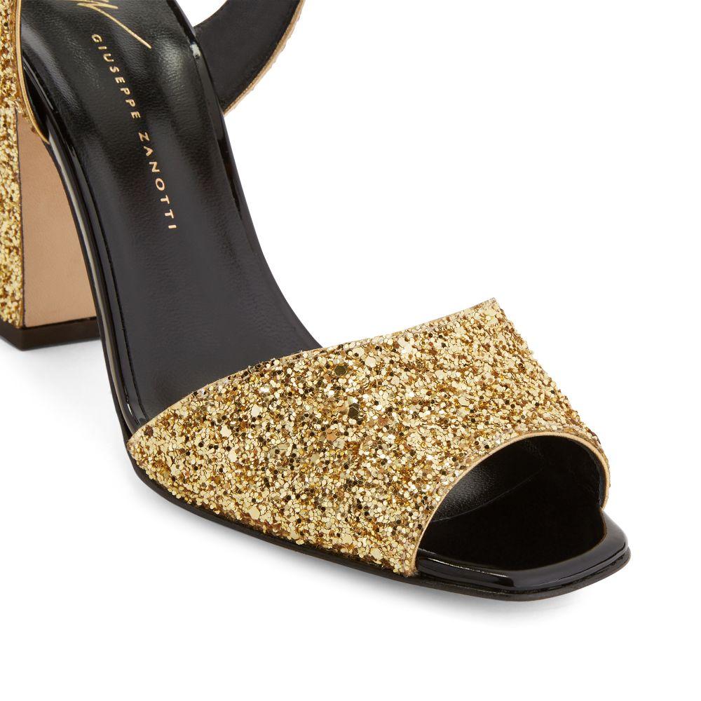 EMMANUELLE GLITTER - Gold - Sandals