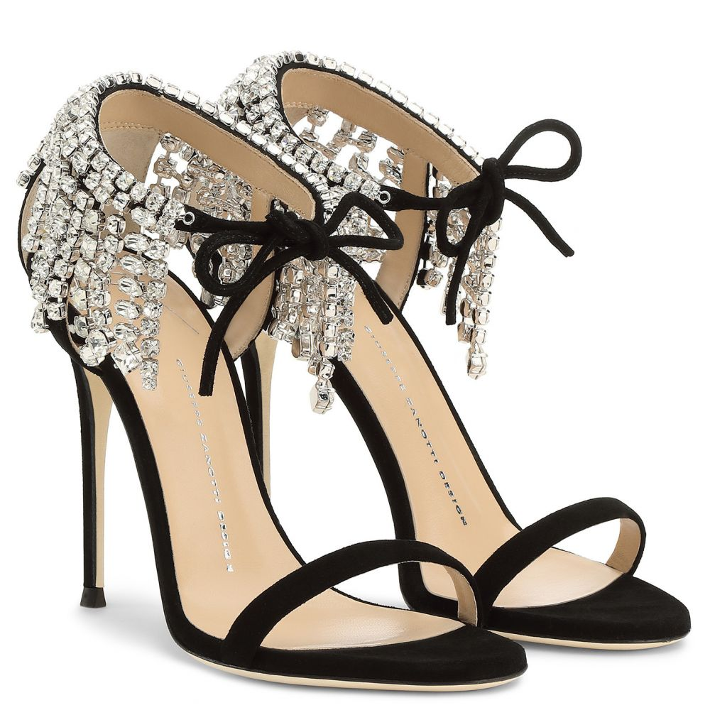 CARRIE CRYSTAL - Black - Sandals