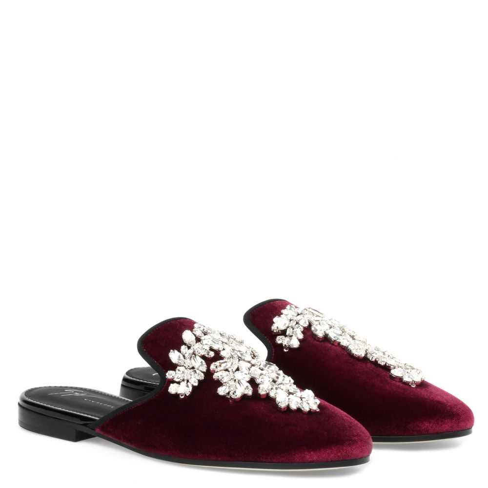 ELSA CRYSTAL - Red - Flats