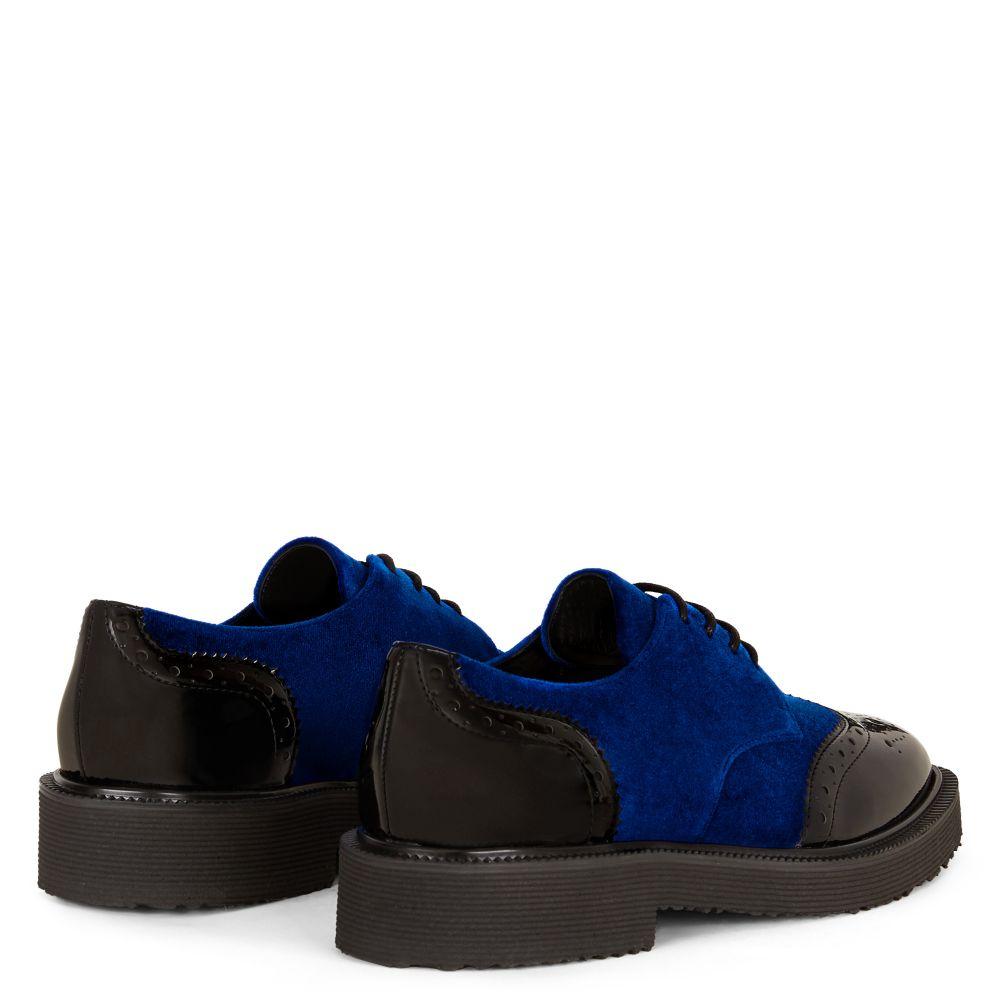 HILARY - Blue - Lace up