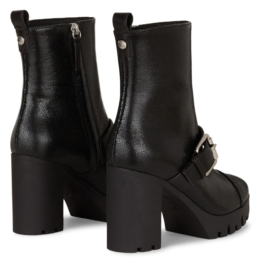 ZANDRA BUCKLE - Black - Boots