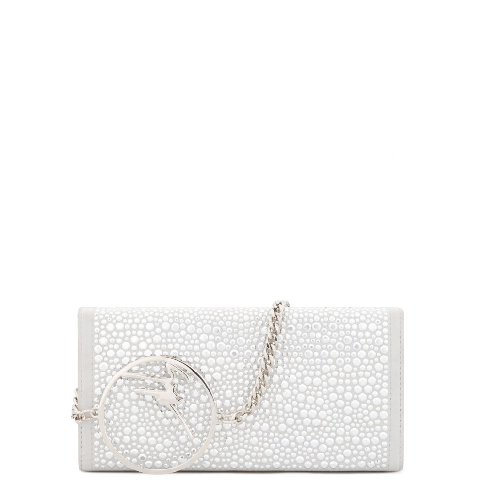 BECKY CRYSTAL - White - Clutches