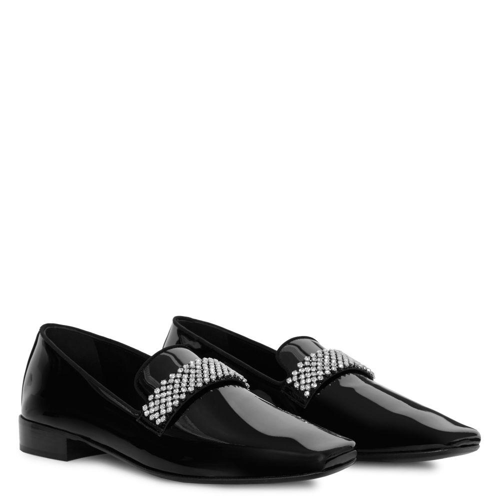 ELIO STRIPE - Black - Loafers