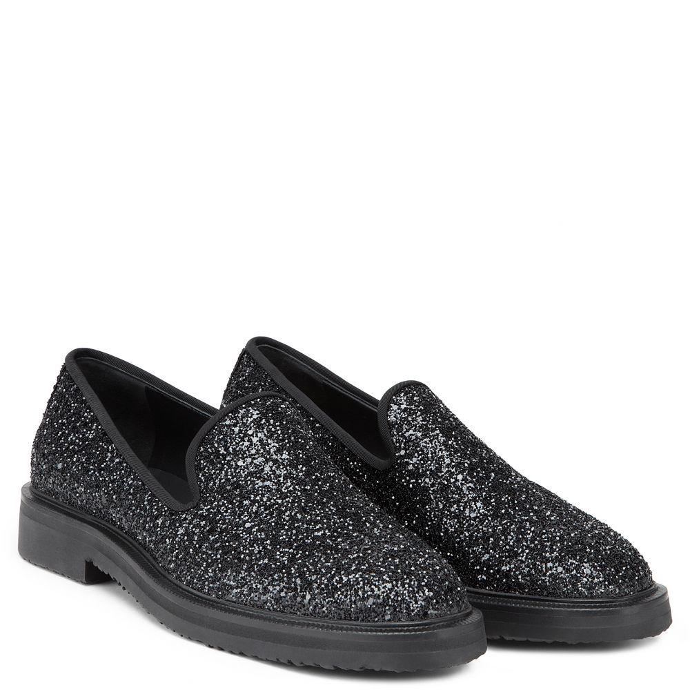 GIUSEPPE GLITTER - Black - Loafers