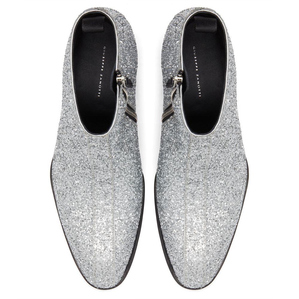 NEW YORK GLITTER - Silver - Boots