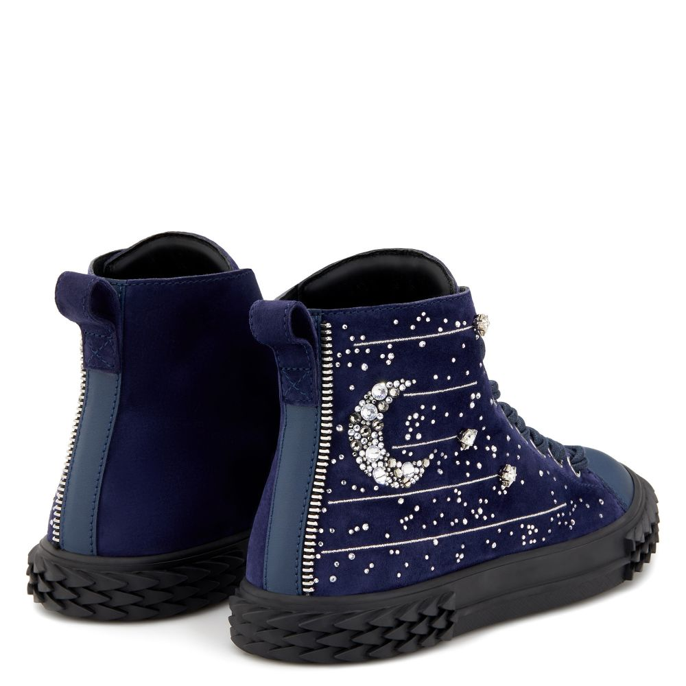 BLABBER LUNAR - Blue - Mid top sneakers
