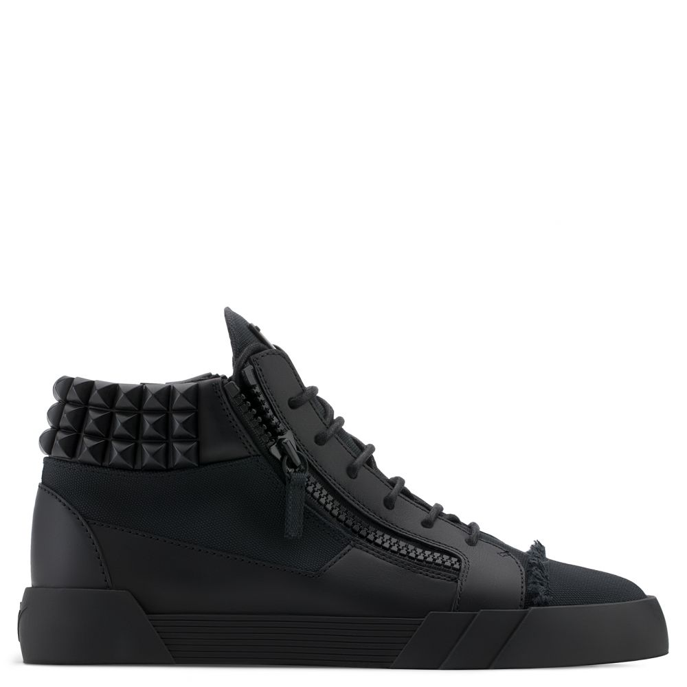 MARC STUDS - Black - Mid top sneakers