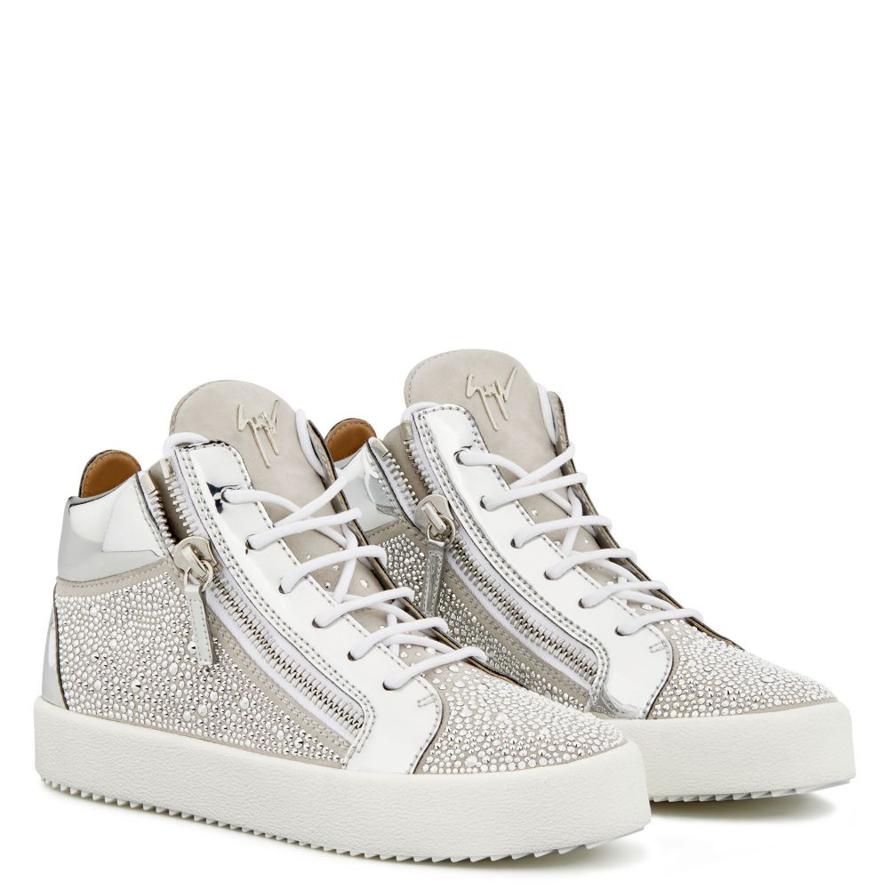 KRISS TWINKLE - White - Mid top sneakers