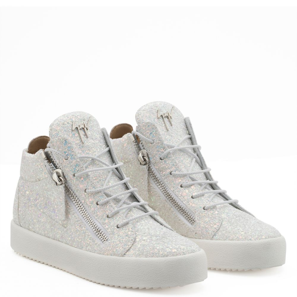 KRISS GLITTER - White - Mid top sneakers