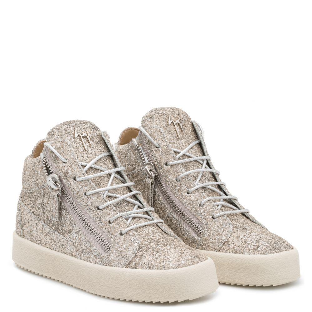 KRISS GLITTER - Gris - Sneakers montante