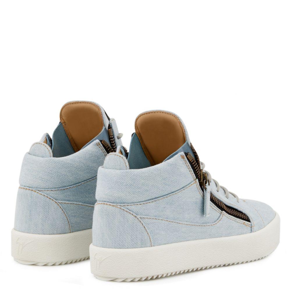 BLUE KRISS - Blue - Mid top sneakers